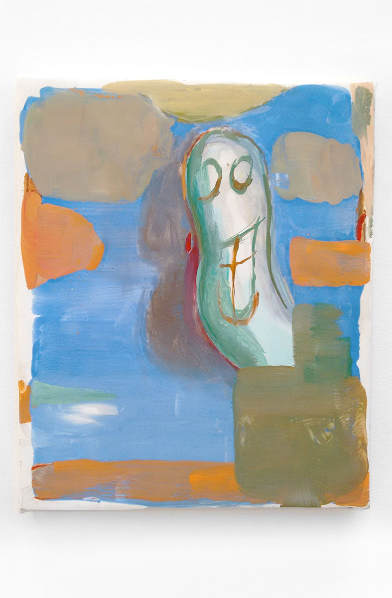 <i>Untitled (Eddie)</i>, 2016. Oil on paper on canvas,  30 x 25 cm