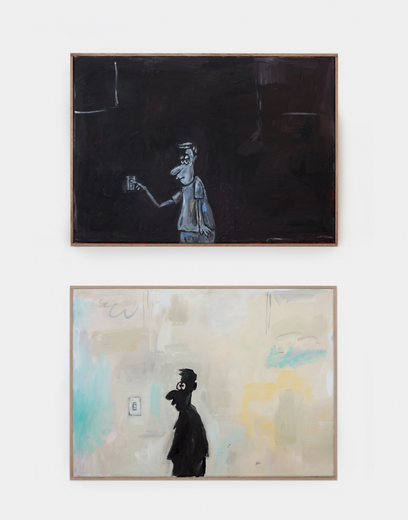 Oh! when love is gone, where does it go? 50 x 70 cm x 2 (diptych ), oil on canvas and wooden frame, 2016