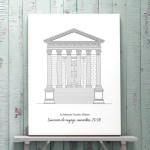 Maison Carrée Nimes contexte_illustration_de_patrimoine_anne_letondot