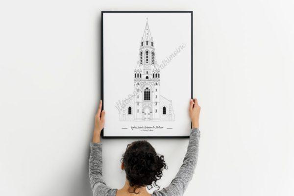 Eglise Saint Antoine de Padoue Le Chesnay Yvelines illustrationdepatrimoine