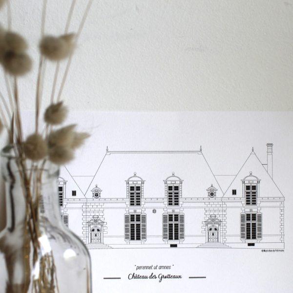 illustration_de_patrimoine_anne_létondot_chateau_de_grotteaux_cadeaux_propriétaires_stagiaire_idees
