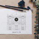 illustration_de_patrimoine_eglise_metz_saint_clément_idée_cadeau_de_mariage_