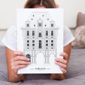 Pavillon_du_roi_place_des_vosges_paris_imagerie_parisienne_illustration_de_patrimoine