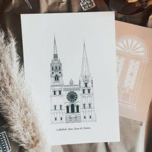 Illustration_cathédrale_notre_dame_de_chartres_monument_historique_illustration_de_patrimoine