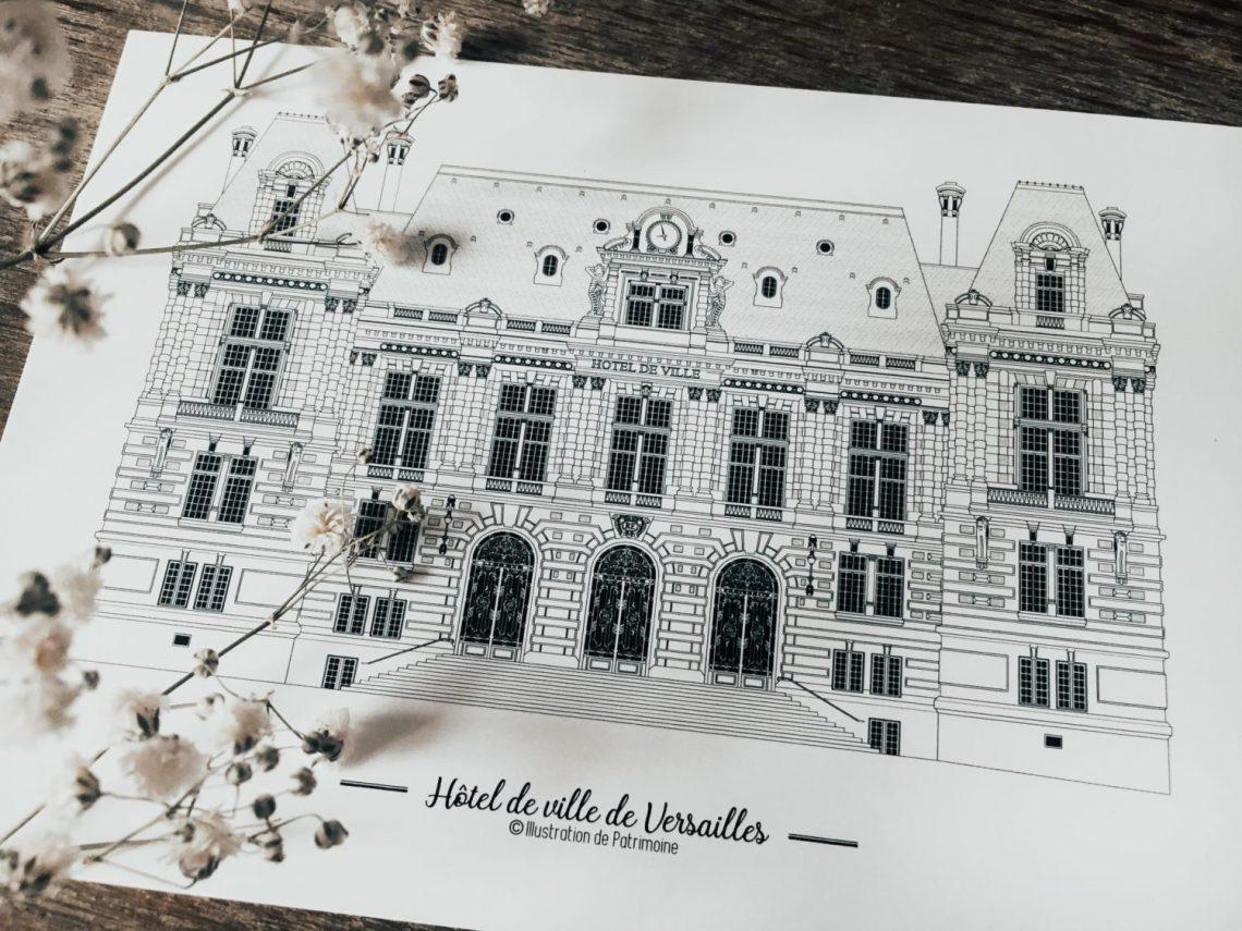 illustration-de-patrimoine-monument-historique-ville-de-versailles-patrimoine-versaillais-hotel-de-ville-mairie-mariage