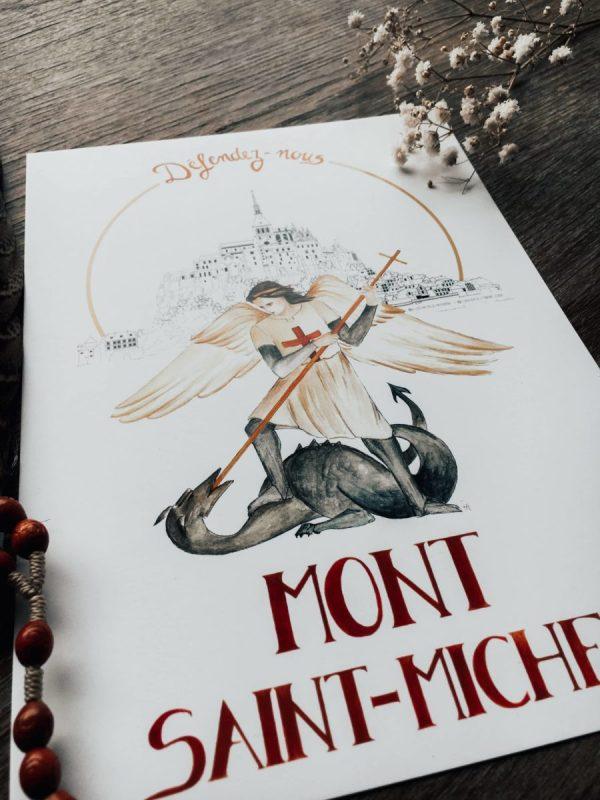 Illustration-de-Patrimoine-x-Atelier-de-lenfant-Jesus-Collaboration-_-Mont-St-Michle-abbaye-Saint-Michel-Arcange