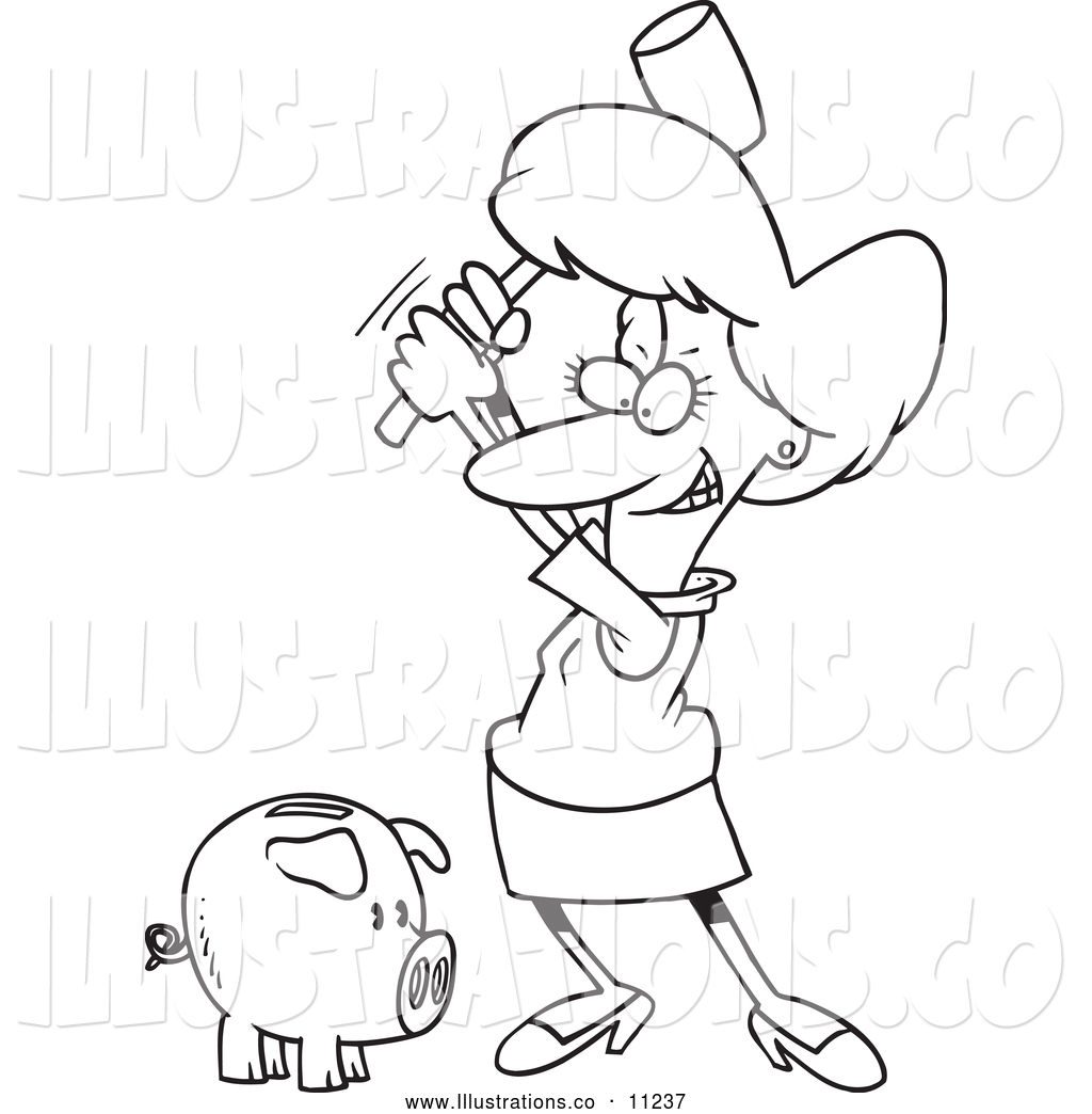 Royalty Free Stock Illustration Of A Black And White
