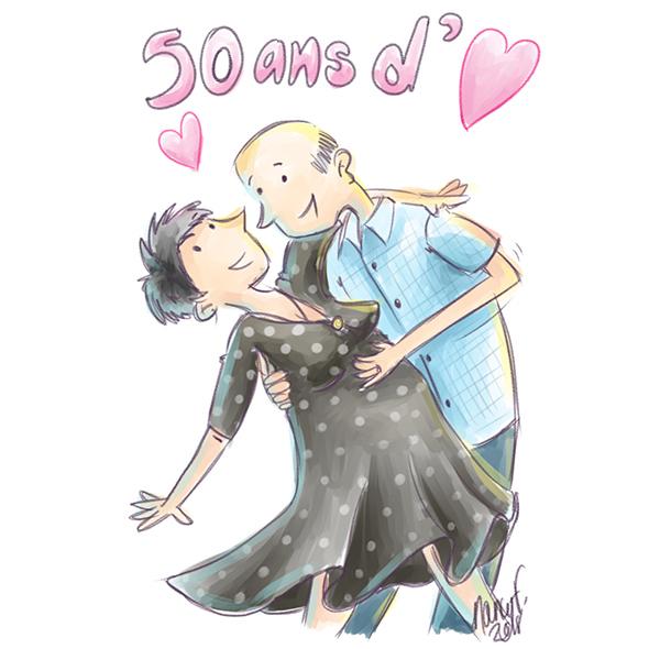 50 ans de mariage et d'amour
