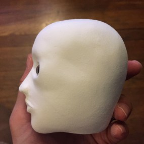 Smoothed head side view.