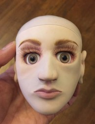 Head after face-up.