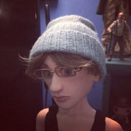 Simon in knit hat.