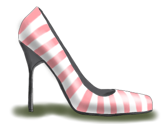 pinked striped shoe