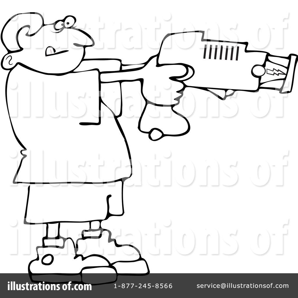 taser gun cartoon coloring pages sketch coloring page - Taser Gun Cartoon Coloring Pages