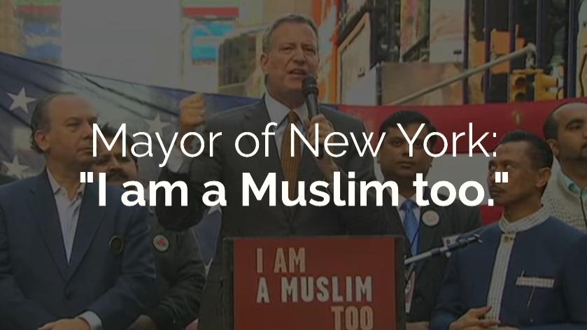 New York City Mayor Says I Am A Muslim Too IlmFeed