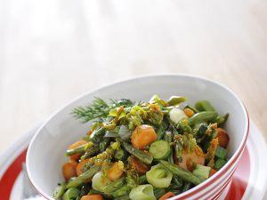 Stufatino di zucchine carote e fagiolini