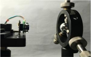 Questo è l'originale set-up sperimentale del pupillometro.