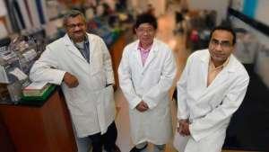 Dr. Sharad Purohit, MCG biochemist e primo autore dello studio; Dr. Ashok Sharma, esparto bioinformatics autore studio; Dr. Jin-Xiong She, direttore del Centro di Biotecnologia e Medicina al Collegio Medico dell'Università della Georgia.