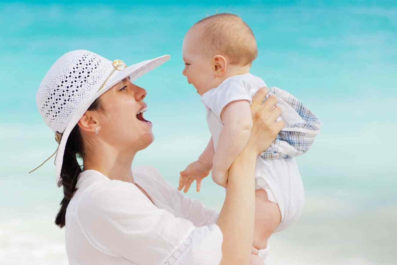 mother, baby, happy