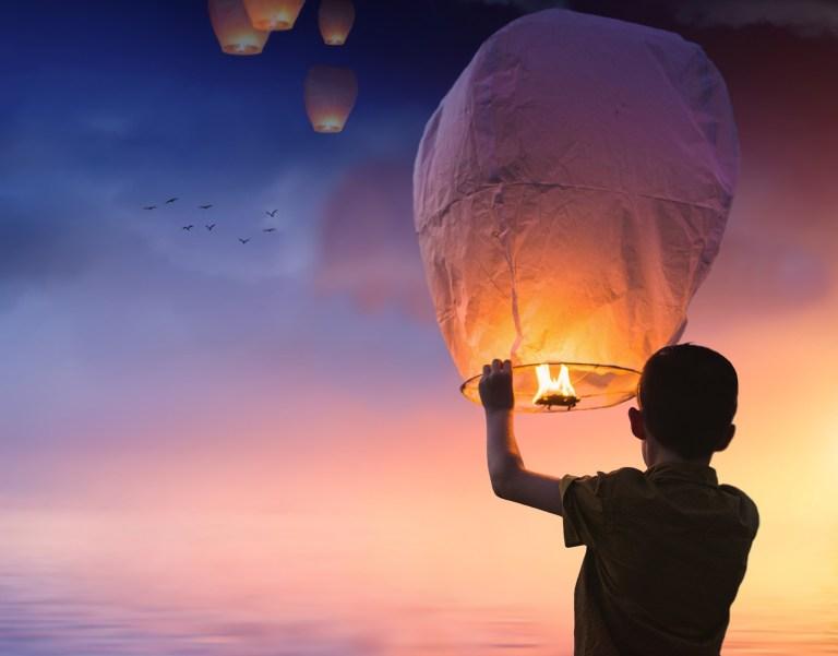 balloon, chinese lanterns, lantern