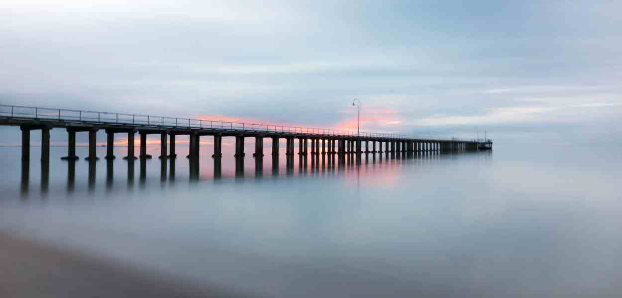 pier, jetty, sunset