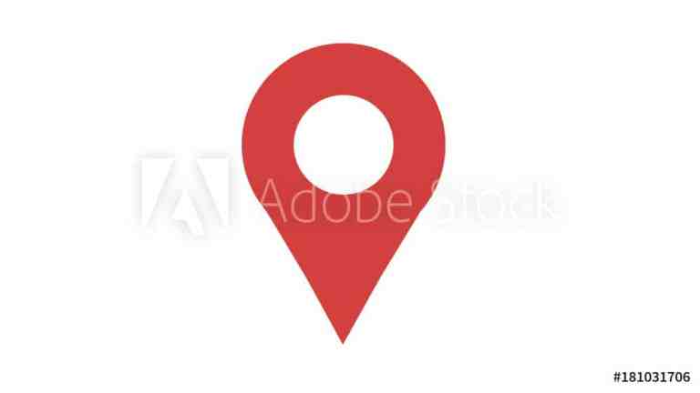 Map marker icon red