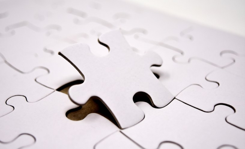 puzzle, last part, joining together