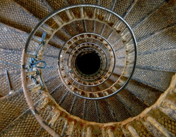 spiral, staircase, lighthouse