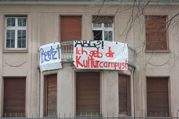 L'edificio occupato a Bockenheim.