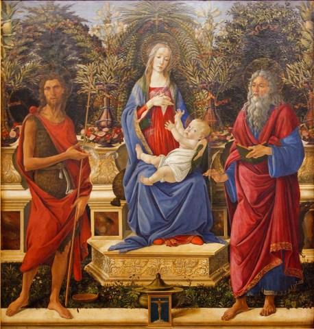 Gemäldegalerie Madonna Bardi - Botticelli