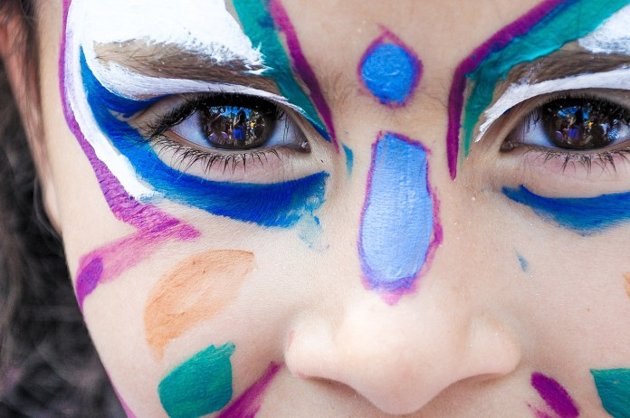 painted faces photo