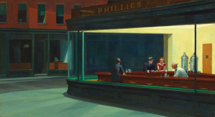 isolamento- nighthawks edward hopper