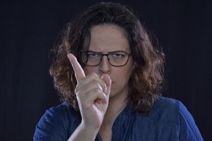 angry woman photo