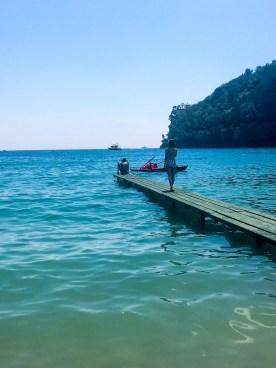 Dock life at Bagni Fiore