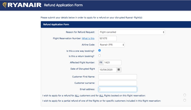 Ryanair rimborso volo: Come effettuare la richiesta