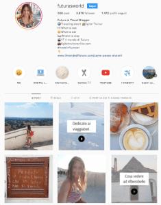 italian travel instagrammer