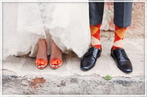 harvest-wedding1-orange-color-socks-and-shoes