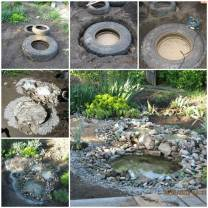 DIY-Garden-Ponds-from-Old-Tires