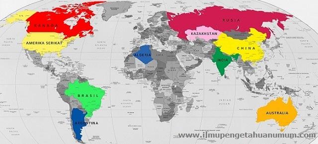 10 Negara Terbesar di Dunia