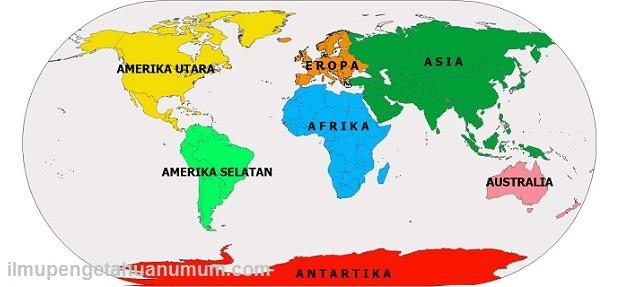 Nama Benua Di Dunia Beserta Luas Area Dan Populasi Penduduknya