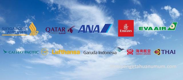 Maskapai Penerbangan Terbaik di Dunia (Top World's Airlines)