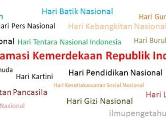 Daftar Hari-hari Besar Nasional Indonesia