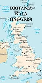 Peta Inggris (Britania Raya)