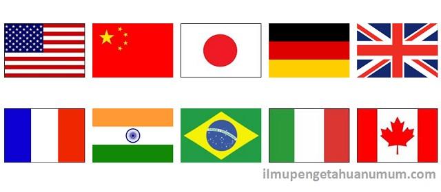 10 Negara dengan Ekonomi Terbesar di Dunia