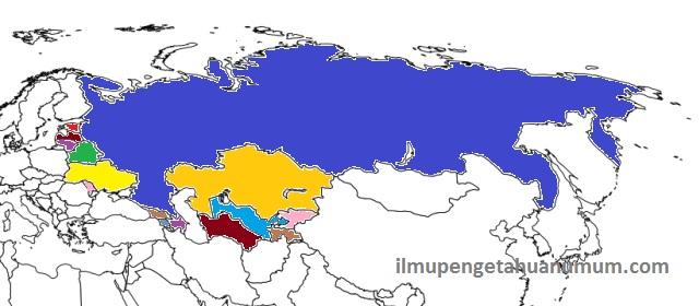 15 Negara Bekas Pecahan Uni Soviet
