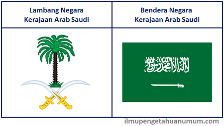Lambang Negara Arab Saudi dan Bendera Negara Arab Saudi