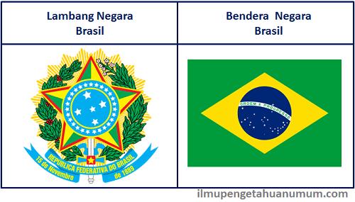 Lambang Negara Brasil dan Bendera Brasil