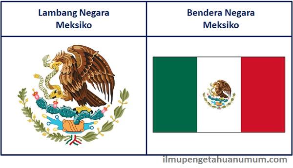 lambang meksiko dan bendera meksiko