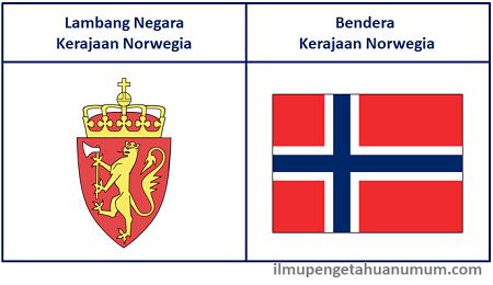 Lambang Negara dan Bendera Kerajaan Norwegia