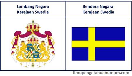 Lambang Negara Swedia dan Bendera Negara Swedia