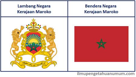 Lambang Maroko dan Bendera Maroko